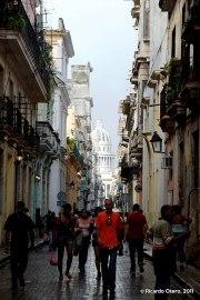 Vista de calle en La Habana Vieja