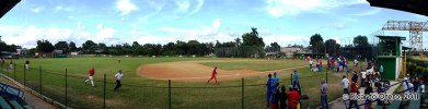 Panorámica del campo de beisbol de Acero Antillana, después de un partido entre los Industriales y los Metropolitanos