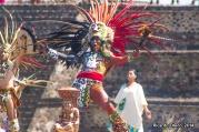 El encendido del fuego nuevo de los Juegos Centroamericanos y del Caribe Veracruz 2014, en Teotihuacán, el 15 de octubre. El momento climático de la representación ancestral.