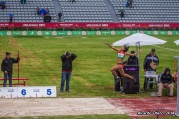 Zoila Flores salta durante su prueba en Veracruz 2014, que se desarrolló bajo una ligera, pero pertinaz lluvia. Zoila obtuvo la medalla de bronce.